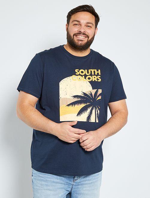 T-shirt stampa palme                                                     GRIGIO