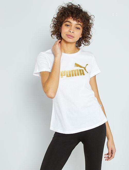 T-shirt stampa 'Puma'                                         bianco