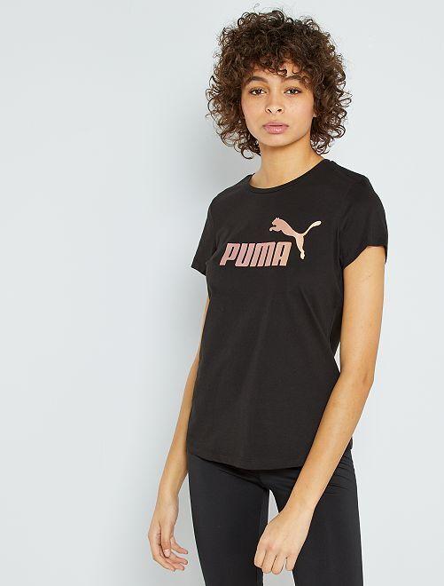 T-shirt stampa 'Puma'                             nero