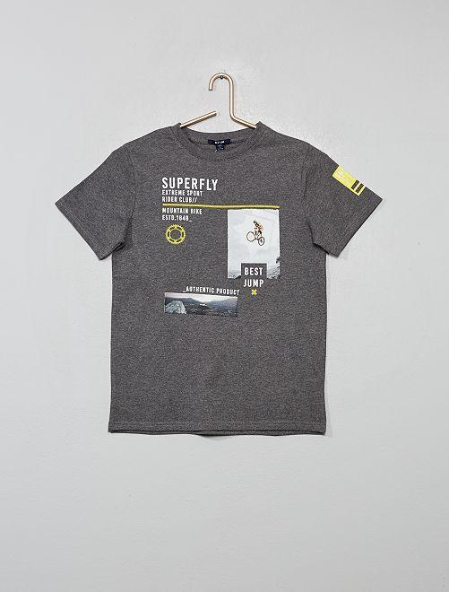 T-shirt stampa 'sport'                                             GRIGIO