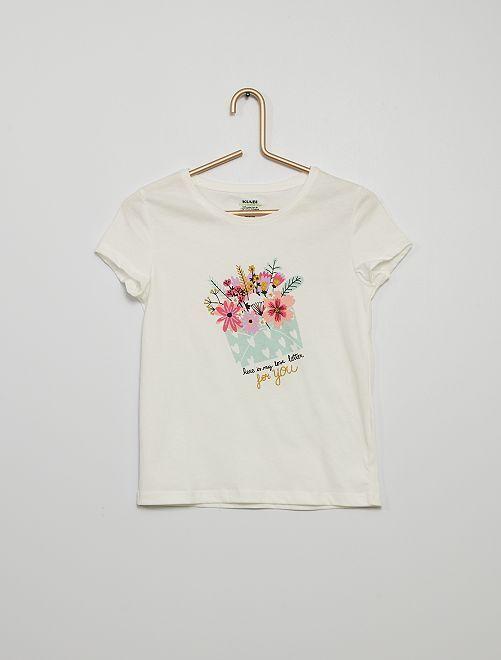 T-shirt stampata                                                                                                                             BEIGE