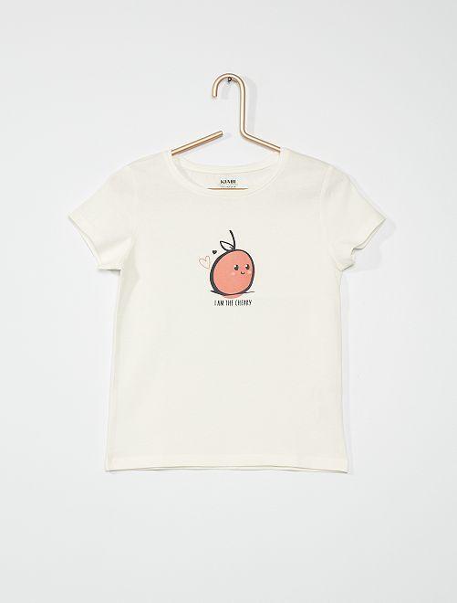 T-shirt stampata                                                                             BIANCO cherry