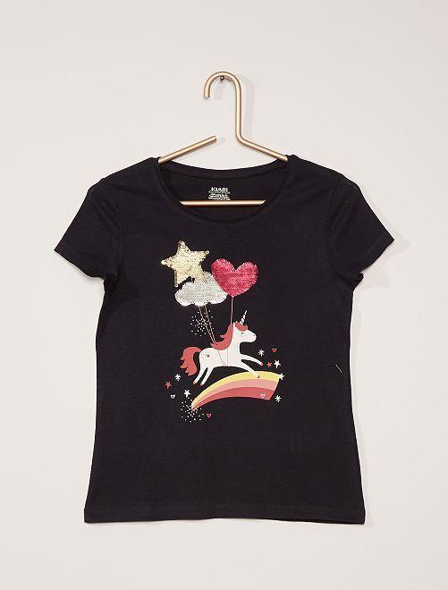 T-shirt stampata                                                                 BLU