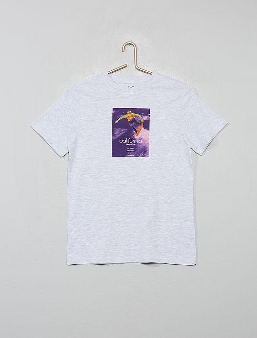 T-shirt stampata 'Eco-concept'                                                                                                         BIANCO