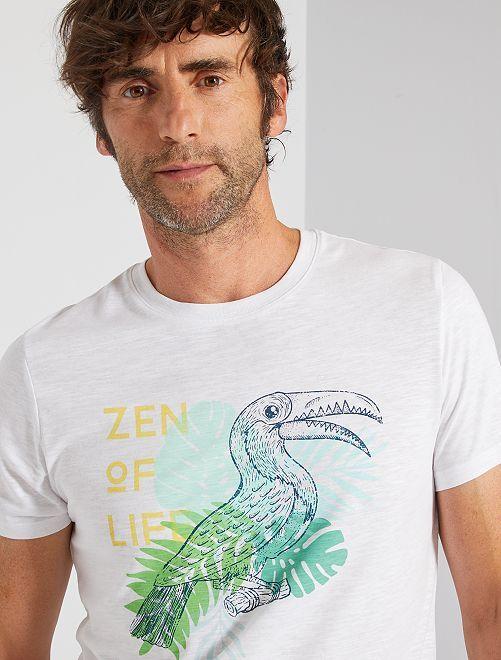 T-shirt stampata 'eco-friendly'                                                                                                                             BIANCO