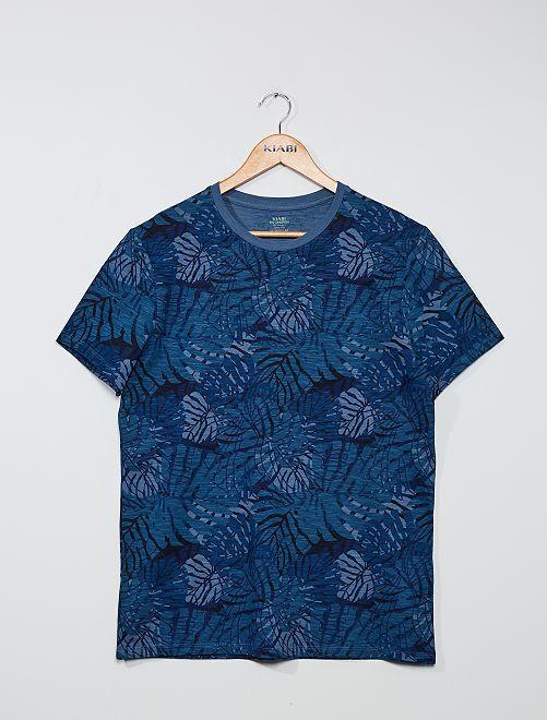 T-shirt stampata 'eco-friendly'                                                                                                                             BLU