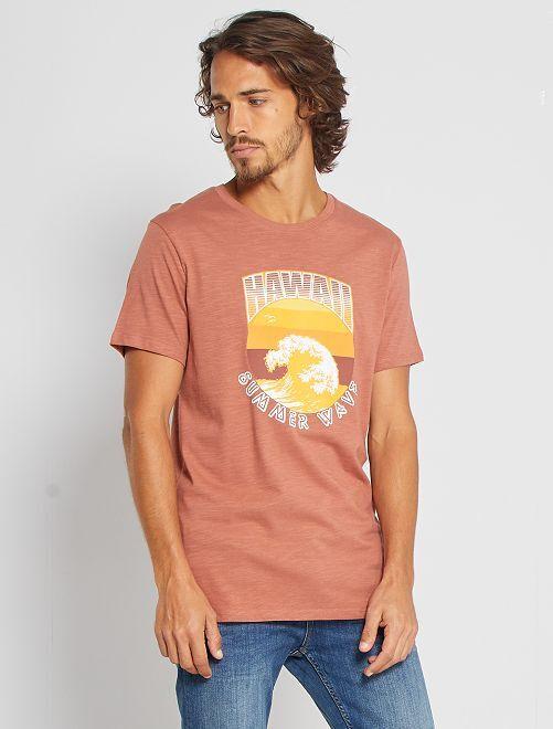 T-shirt stampata 'eco-friendly'                                                                                                                             ROSA