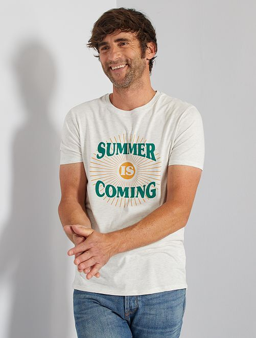 T-shirt stampata 'eco-friendly'                                                                                                                 VERDE