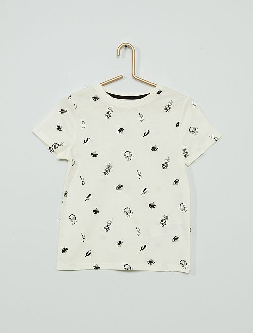 T-shirt stampata 'eco-sostenibile'                                                                                                     BEIGE