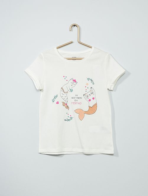 T-shirt stampata eco-sostenibile                                                                 BEIGE