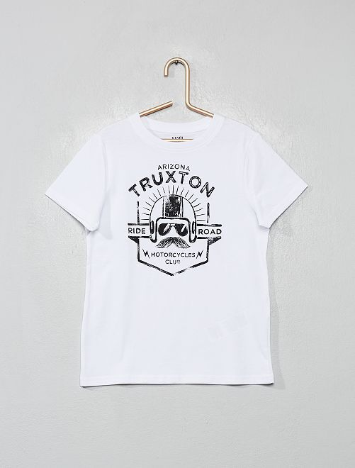 T-shirt stampata eco-sostenibile                                                                                                                                 BIANCO