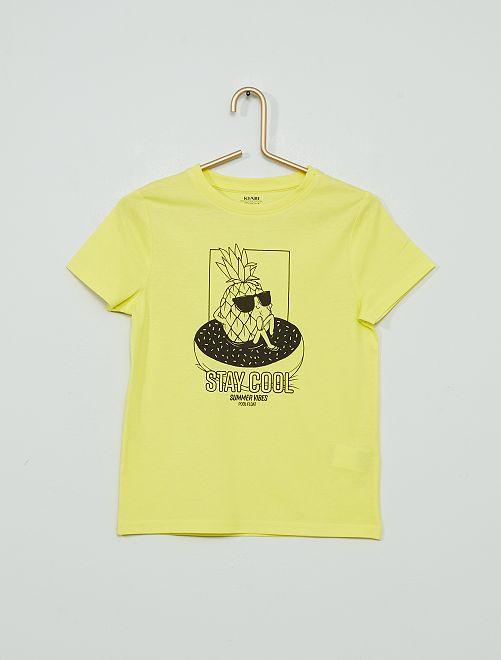 T-shirt stampata 'eco-sostenibile'                                                                                                                                                                 GIALLO