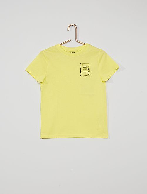 T-shirt stampata 'eco-sostenibile'                                                                                                                                                                 GIALLO fast