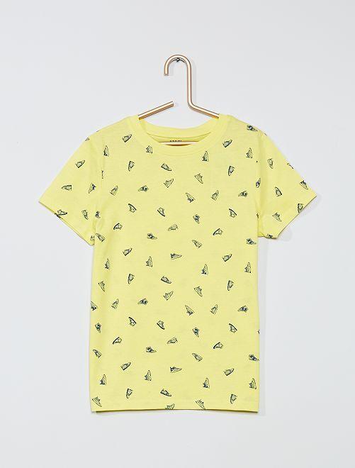 T-shirt stampata eco-sostenibile                                                                                         GIALLO