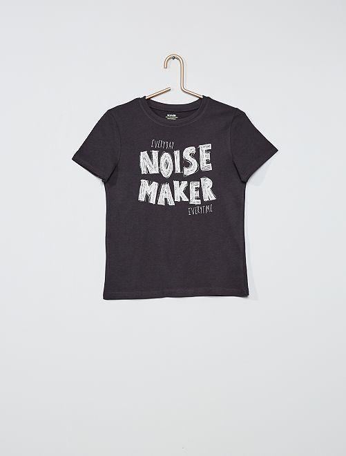 T-shirt stampata eco-sostenibile                                 GRIGIO