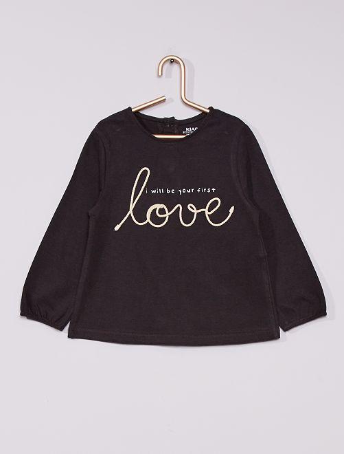 T-shirt stampata 'eco-sostenibile'                                         GRIGIO
