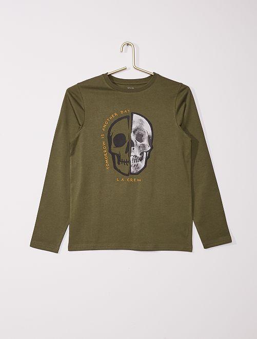 T-shirt stampata eco-sostenibile                                                                                                                                                                                                                             KAKI