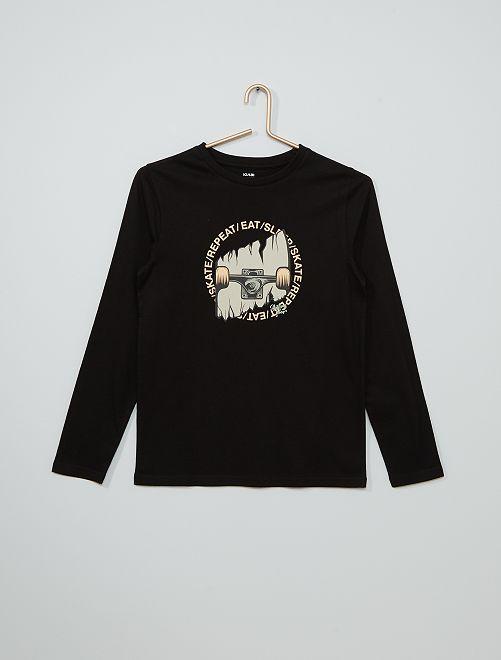 T-shirt stampata eco-sostenibile                                                                                                                                                                                                                             NERO
