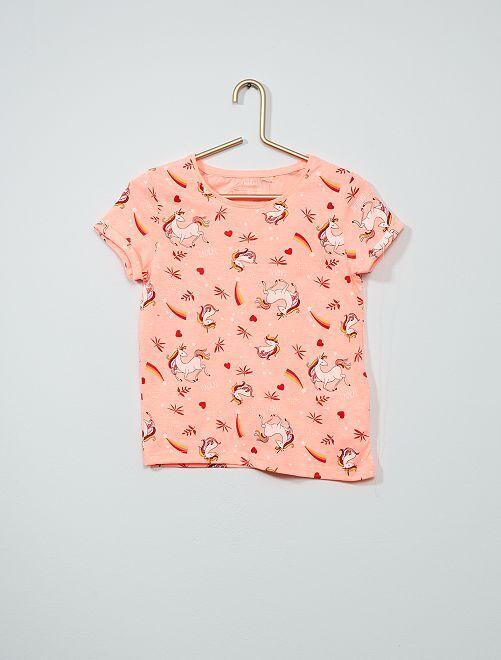 T-shirt stampata eco-sostenibile                                                                 ROSA