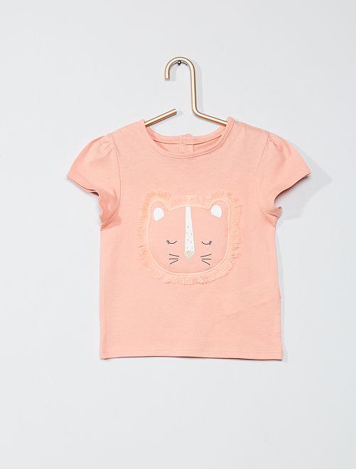 T-shirt stampata 'eco-sostenibile'                                                                 ROSA
