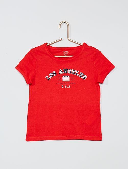 T-shirt stampata eco-sostenibile                                         ROSSO