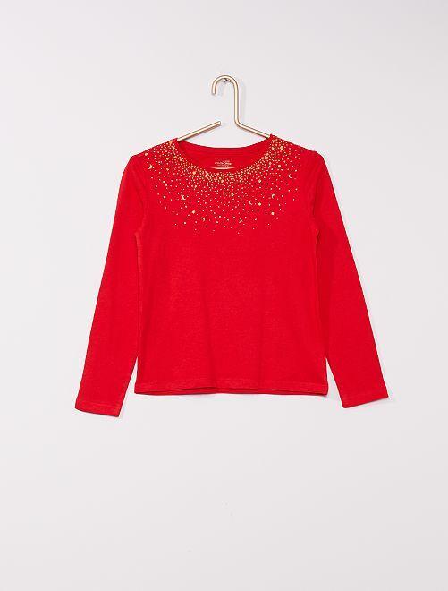 T-shirt stampata 'eco-sostenibile'                                                                                                                                                     rosso