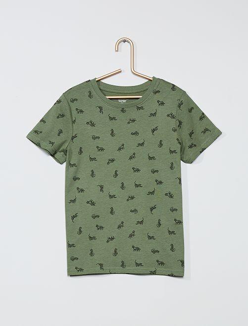 T-shirt stampata eco-sostenibile                                                                                         VERDE