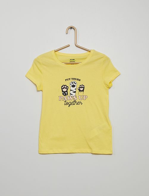 T-shirt stampata                                                                                                                             GIALLO