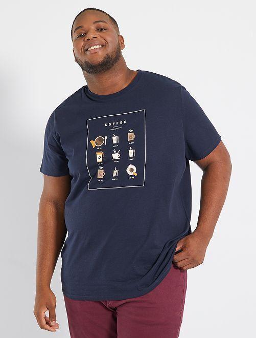 T-shirt stampata                                                                                         marrone caffé
