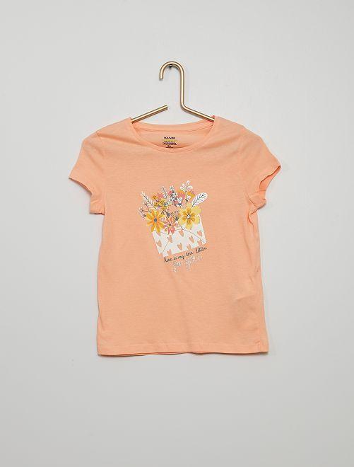 T-shirt stampata                                                                                                                             ROSA