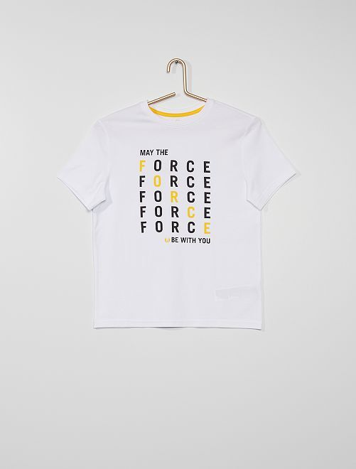 T-shirt 'Star Wars' eco-sostenibile                             BIANCO