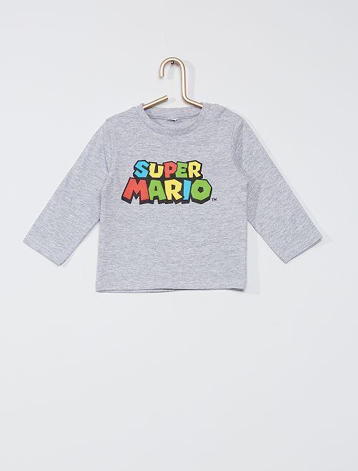 T-shirt 'Super Mario'                             grigio