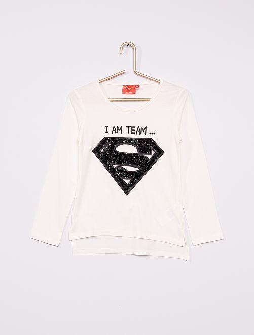 T-shirt 'Superman'                                         bianco