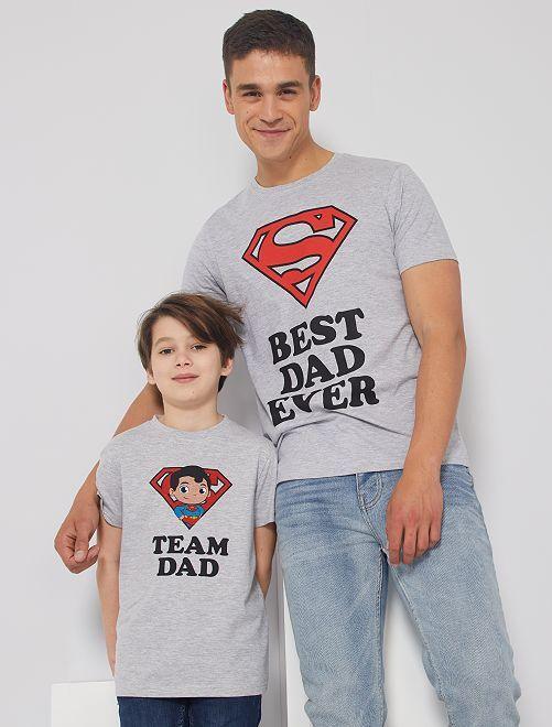 T-shirt 'Superman'                             grigio