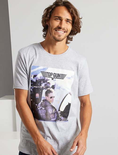 T-shirt 'Top Gun'                             nero