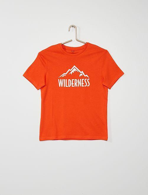T-shirt 'Wilderness'                                                                                                                                                     ARANCIONE