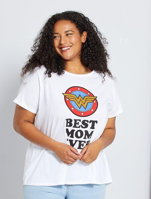 T-shirt 'Wonder Woman'                                                     bianco