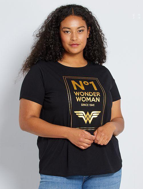 T-shirt 'Wonder Woman'                                                     nero