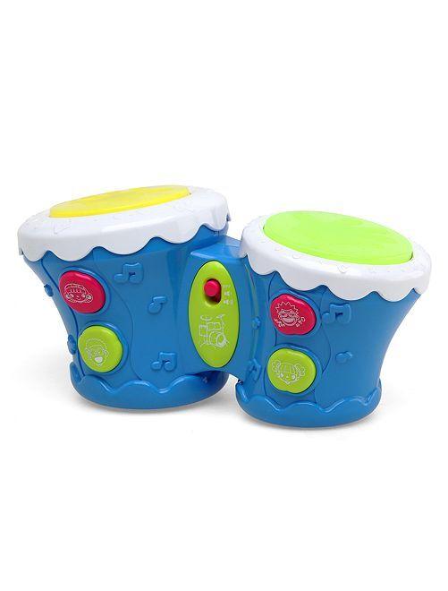 Tamburo musicale effetti luminosi                             blu Neonata