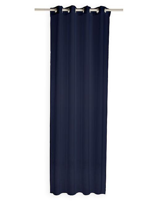Tenda trasparente con occhielli                                                                                                                 blu marine