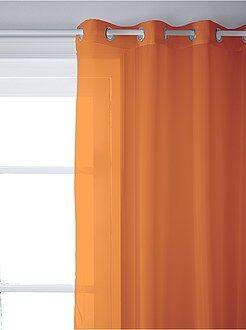 Tenda trasparente con occhielli