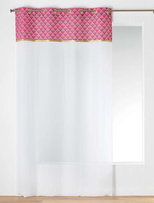 Tenda trasparente stampa giapponese                                                     bianco/rosso