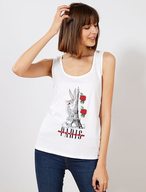 Top 'Bugs Bunny' 'Looney Tunes'                             bianco Donna
