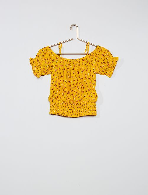 Top collo Bardot                                                                             GIALLO