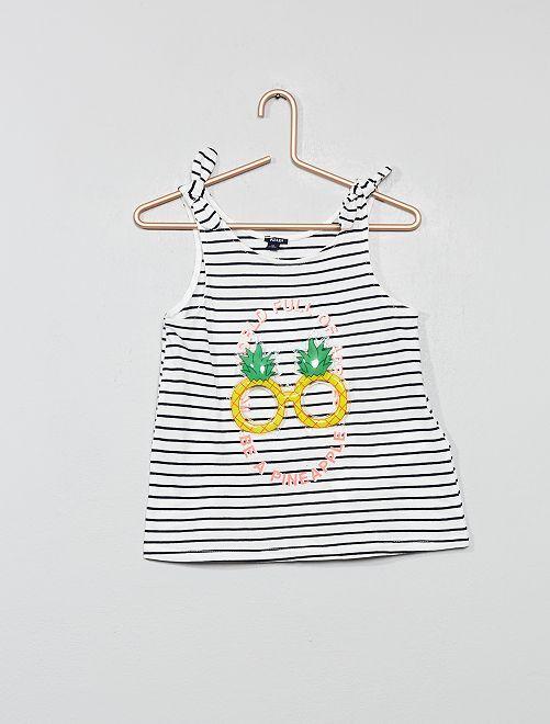 Top con fiocchi 'Ananas'                                                                             BEIGE Infanzia bambina