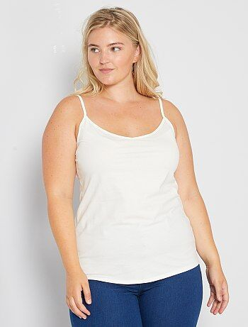 Taglie forti donna - Top jersey spalline sottili - Kiabi