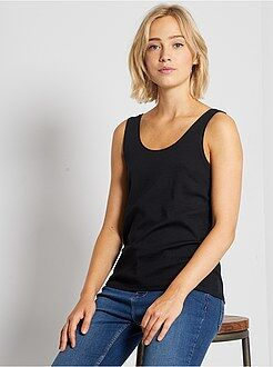 T-shirt basic - Top scollo a U