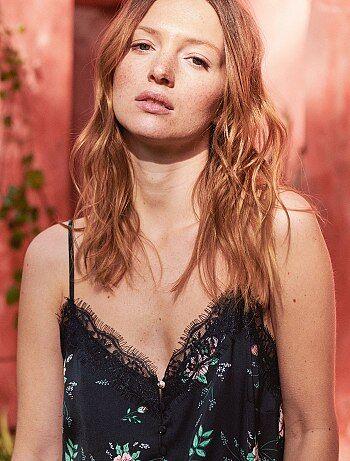 Donna dalla 38 alla 52 - Top stile lingerie con bottoni - Kiabi 8f3381868ad