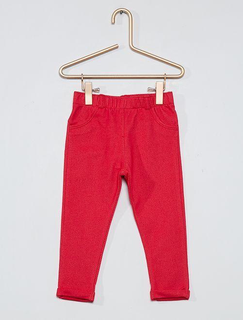 Treggings stretch                                                                                                     rosso