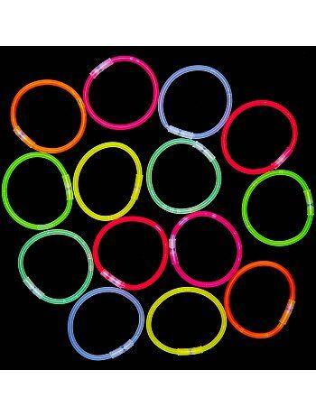 Tubo 15 braccialetti luminosi - Kiabi